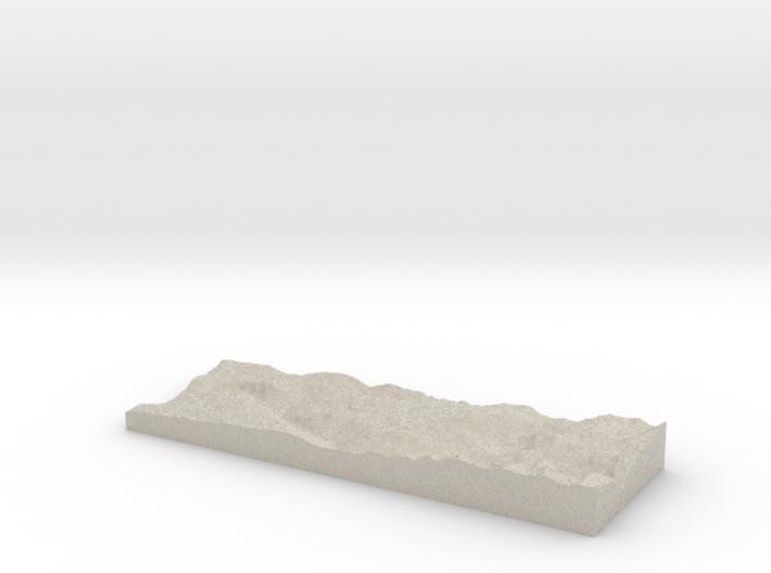 Model of Little Hetch Hetchy Valley 3d printed