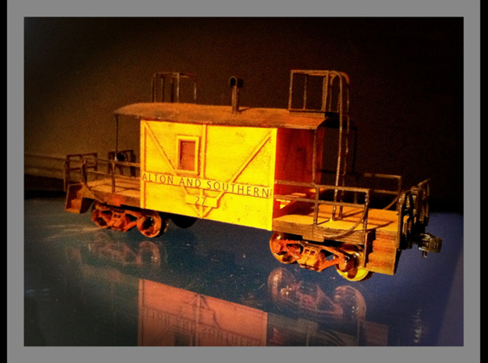 A&S Caboose N scale 3d printed This is a finished HO version of the same model.