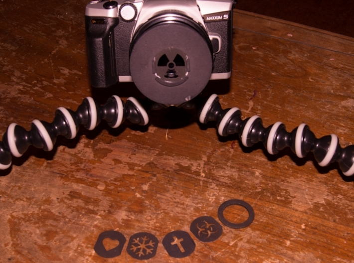 Photography Creative aperture set (fits over 55mm 3d printed Kit mounted on a 50mm lens