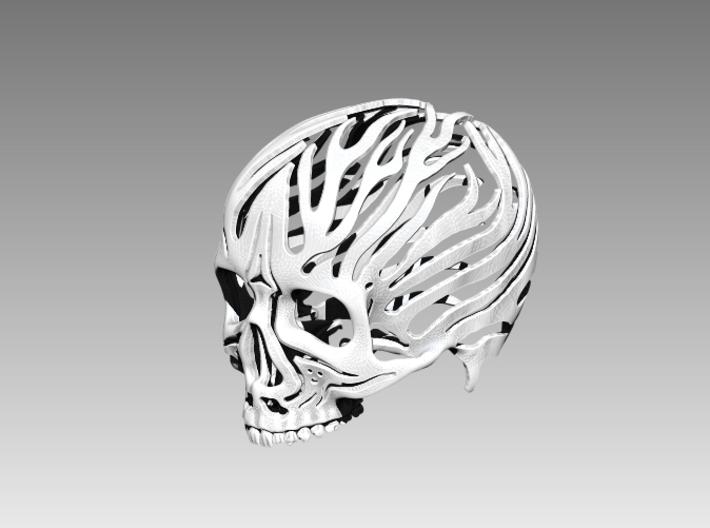 Skull Flames 3d printed
