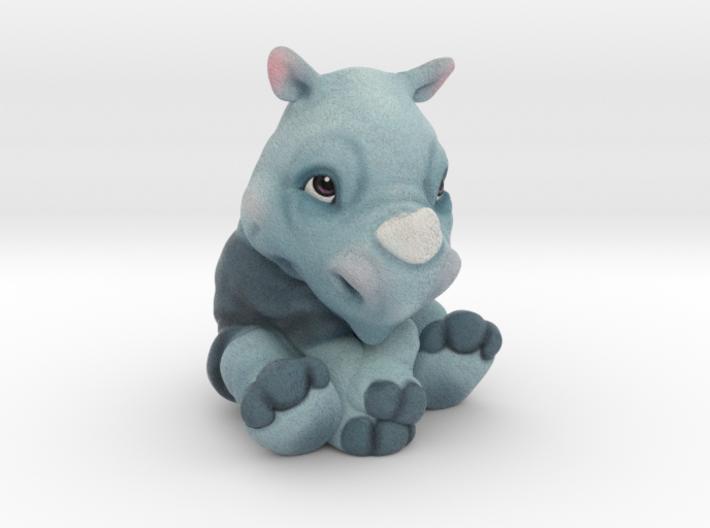 Rita the Rhino 3d printed