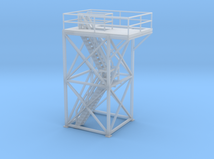 'HO Scale' - 10 Ft x 10 Ft x 20 Ft Tower Top With  3d printed