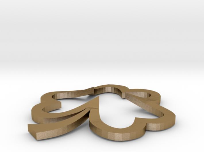 Open Heart Shamrock Pendant 3d printed