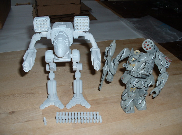 Mad Cat / Timber Wolf Battlemech 1/72 3d printed without the Thunderbolt!