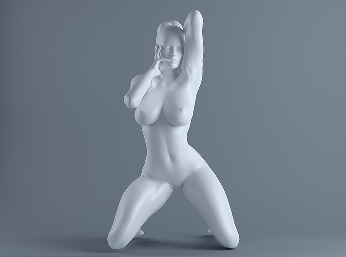Unpainted nude female figures