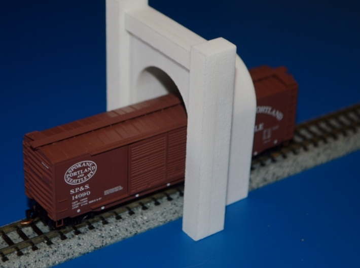 N-Scale SP&S Greenwood Cemetery Tunnel Portal 3d printed Unpainted Production Photo - Car & Track Not Included