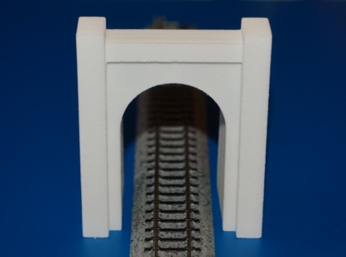 N-Scale SP&S Greenwood Cemetery Tunnel Portal 3d printed Unpainted Production Photo - Track Not Included