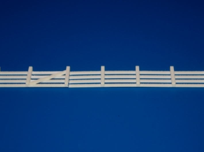 N-Scale Branchline Cattle Pens 3d printed Unpainted Production Photo -  Rear Fence Piece