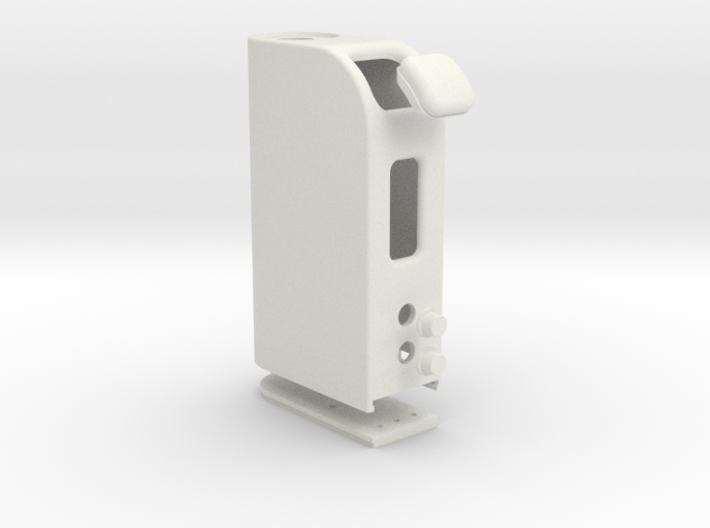 Box Mod With Dual 18650 Pack & DOOR & Buttons 3d printed