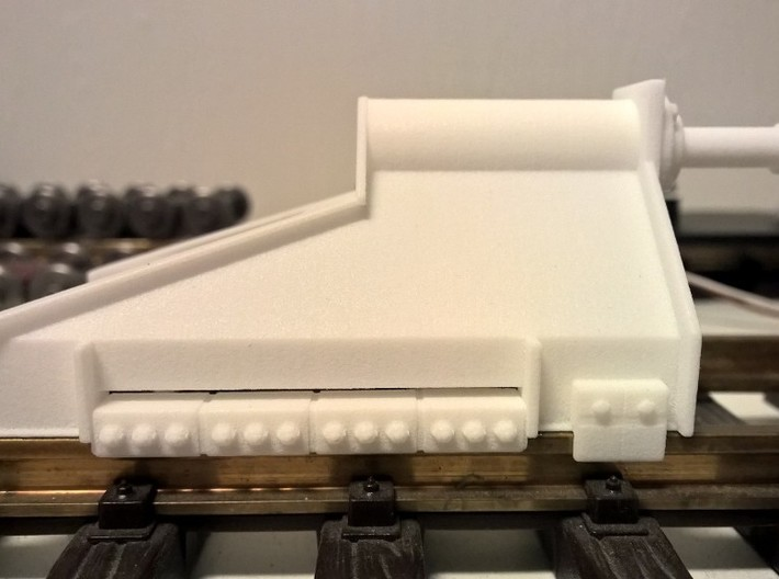 RhB Buffer - Modern Without Signal 3d printed RhB Modern Buffer Stop in polished WSF