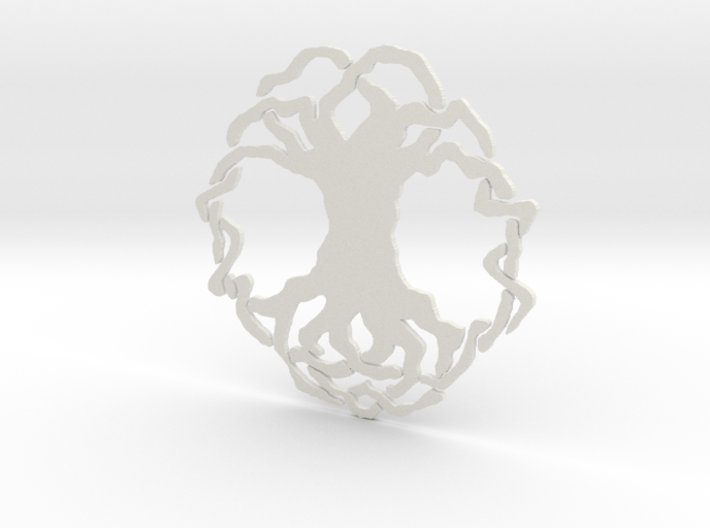 Tree of Life Simple Tile 3d printed