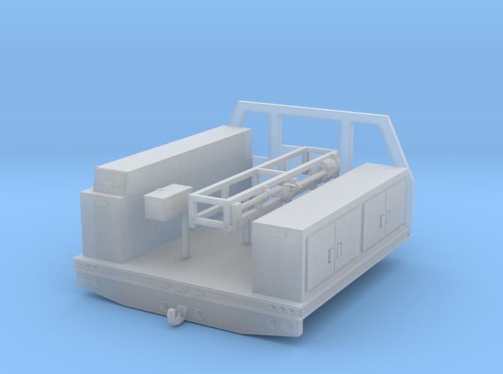 1/87th HO Fire service utility flatbed 8' wide 3d printed