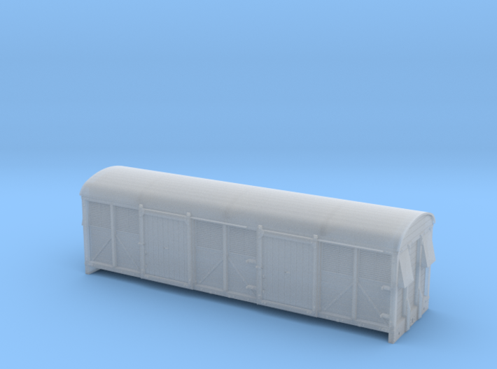 LMS 6wheel Milk Van body solid sides - 4mm scale 3d printed