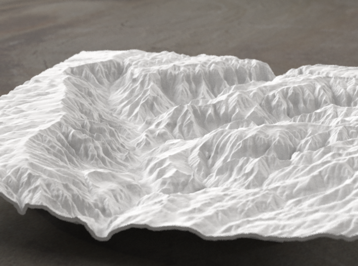 8'' Waimea Canyon Terrain, Hawaii, USA 3d printed Radiance rendering