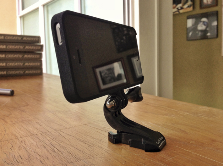iPhone 5 Case - GoPro Adapter 3d printed