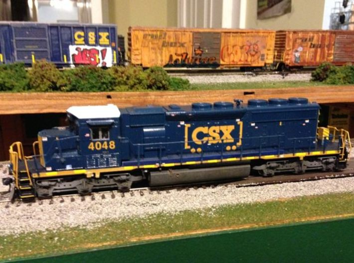 HO scale 1:87 CSX SD40-3 Wabtec Cab 3d printed Completed model by Brad [You are not buying the full locomotive]