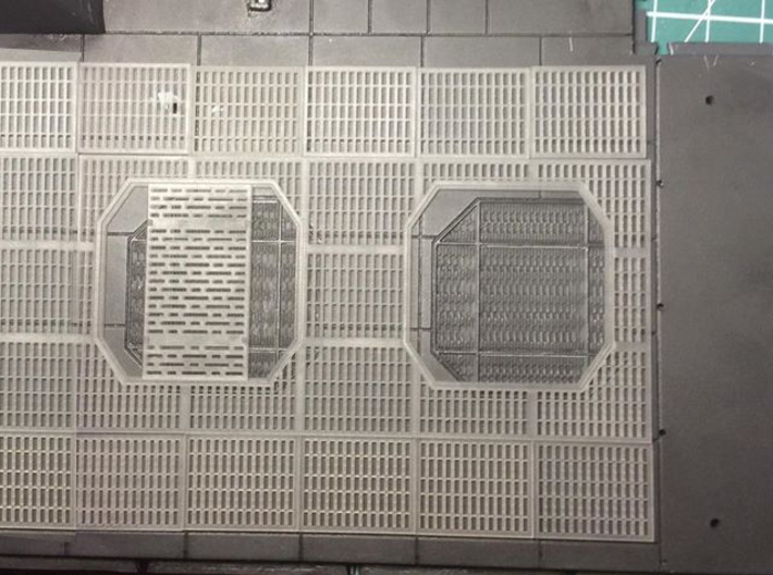 YT1300 DEAGO HALL GRILLE COMPLETE 3d printed Area to be covered by this part.