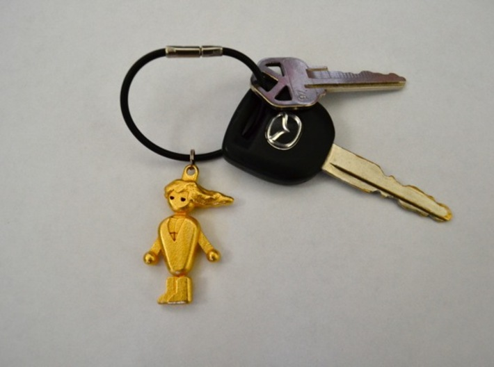 PCMR Keychain 3d printed Steel