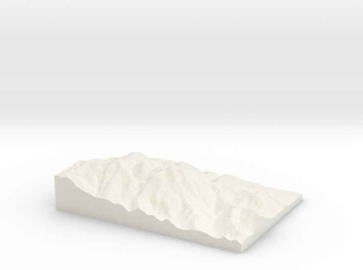 Mount Tamalpais: Topophile Model #0022 3d printed