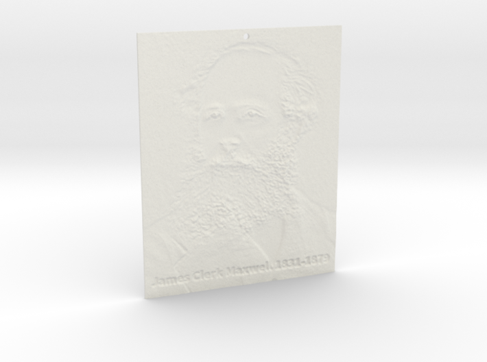 James Clerk Maxwell Shadowgram 3d printed