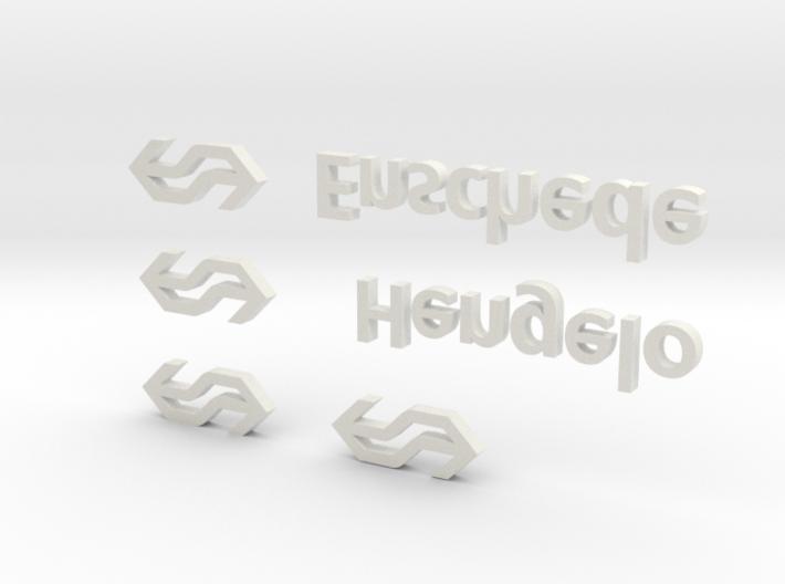 NS Stationsnamen Enschede en Hengelo (1:87) 3d printed
