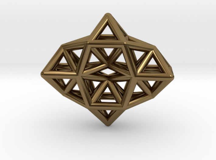 Deltahedron Toroid Pendant 3d printed
