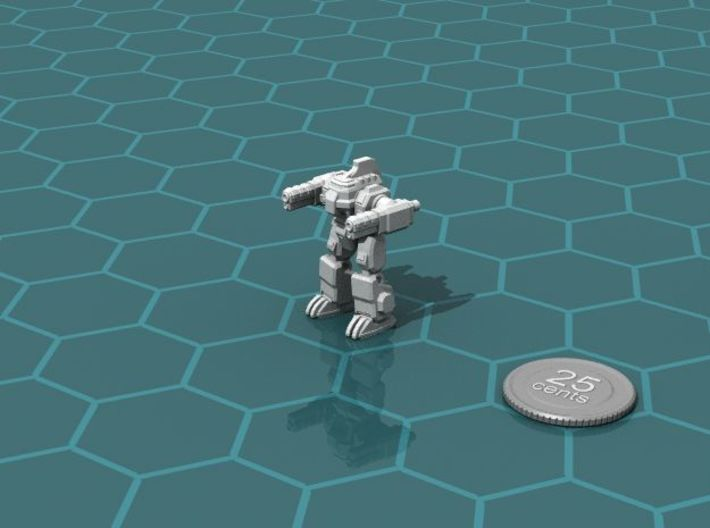 Colonial Combat Walker 3d printed Render of the model, with a virtual quarter for scale.