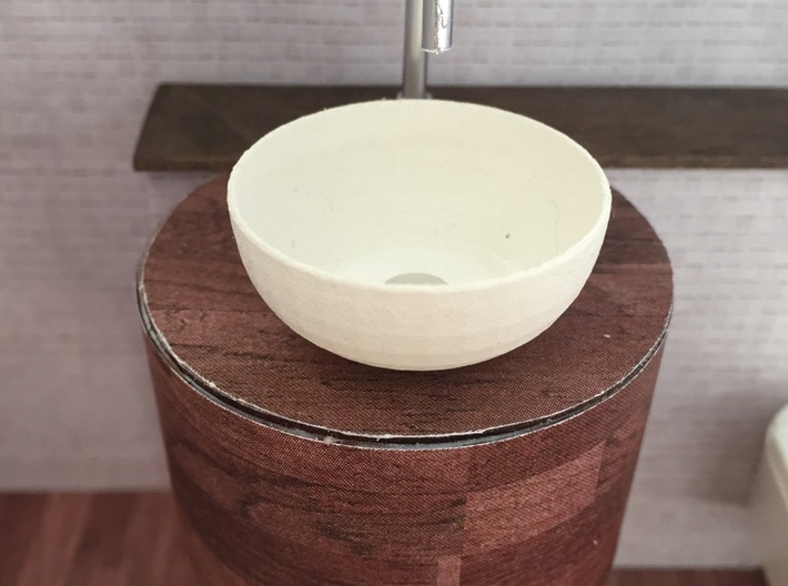 1:12 Bowl 3d printed used in a mini bathroom