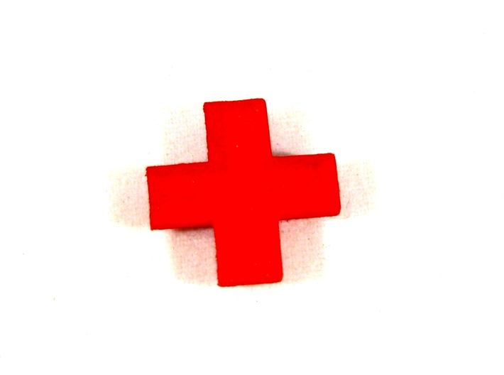 Medical Plus Signs, Set of 3 Tokens for Flash Poin 3d printed Top View in Red Strong & Flexible