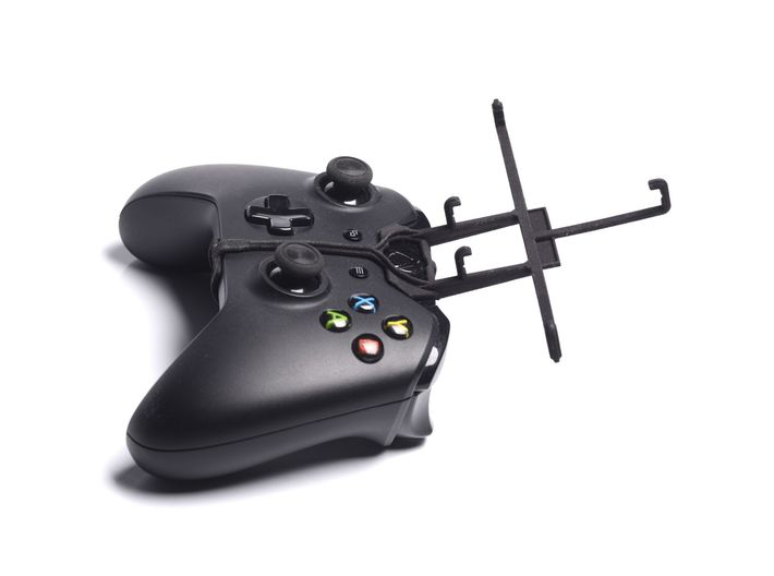 Xbox One controller & Spice Stellar 470 (Mi-470) 3d printed Without phone - A Samsung Galaxy S3 and a black Xbox One controller
