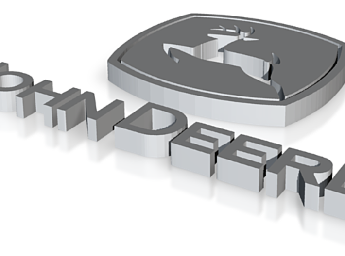 john deere logo 3d printed