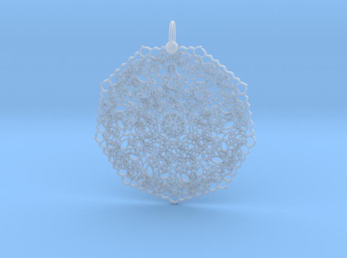 Love Mandala Pendant 3d printed