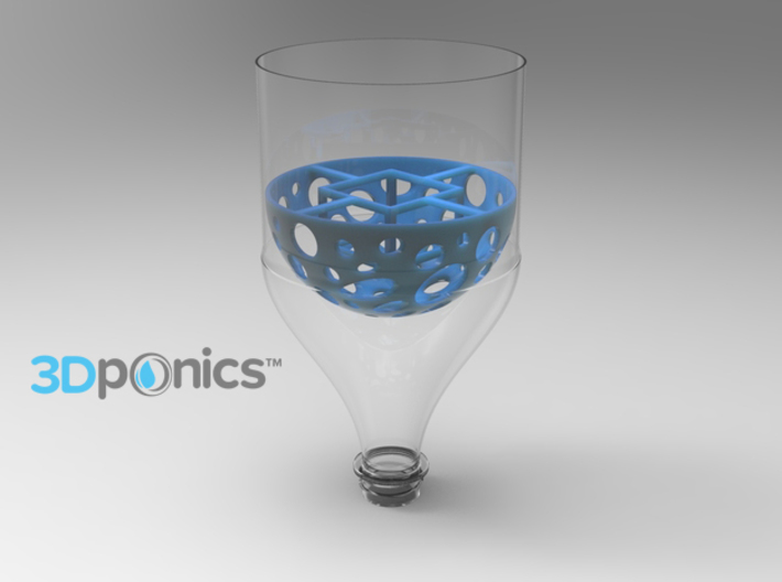 Grow Media Basket (Version 1) - 3Dponics 3d printed Grow Media Basket (Version 1) - 3Dponics Drip Hydroponics