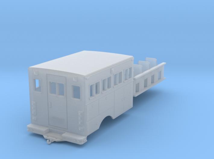 1/64th Hotshot Fire Crew Transport w interior 3d printed