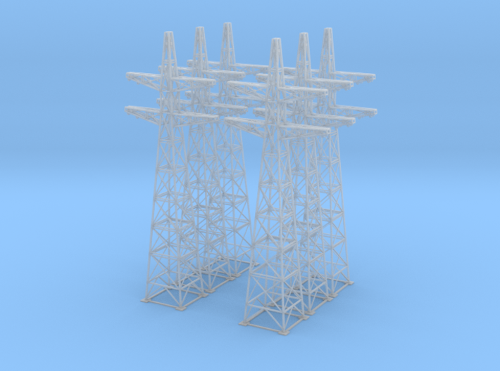Power Line Towers Z Scale 3d printed 6 power line towers Z scale