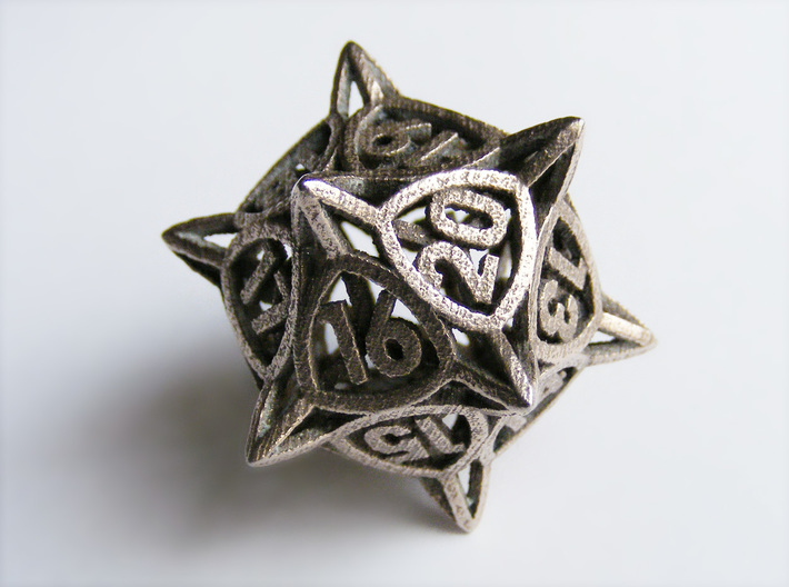 'Center Arc' dice, D20 MTG Spindown Life Counter 3d printed
