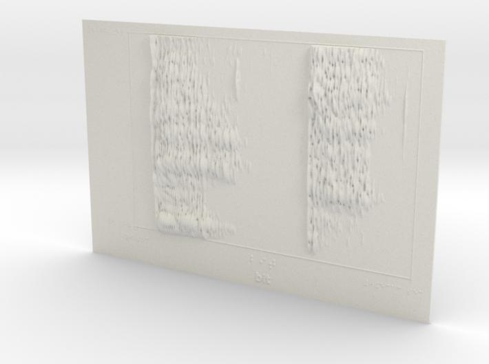 Spectrogram of 'bit' 3d printed