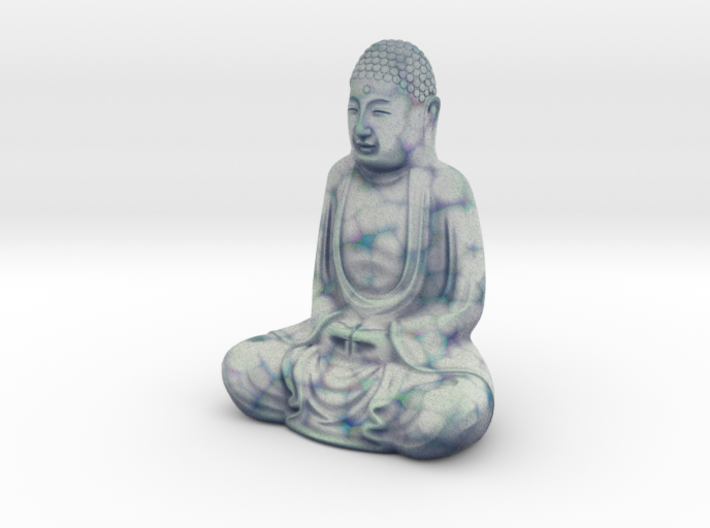 Textured Buddha: blue green marble. 3d printed