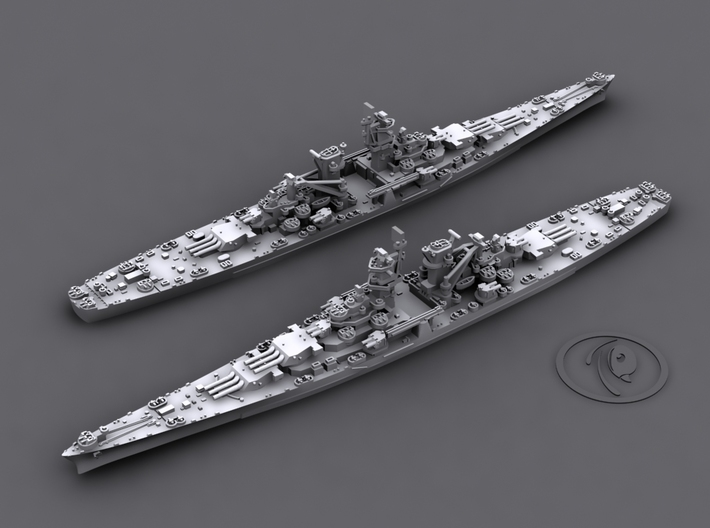 1/4800 US CB Alaska[1944] (x2) 3d printed Computer software render