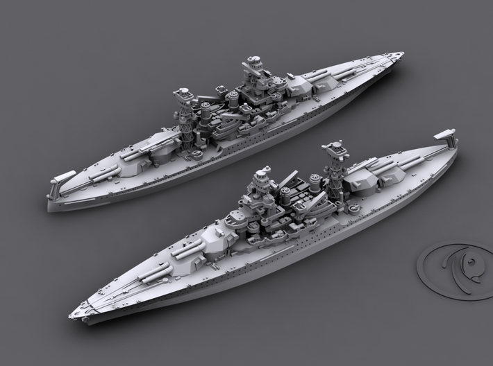 1/4800 US BB Colorado-Maryland Class [1941] (2+1) 3d printed BB46 Maryland[1941]