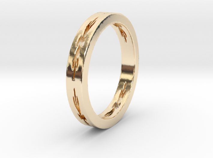 Star Ring Size 6 3d printed