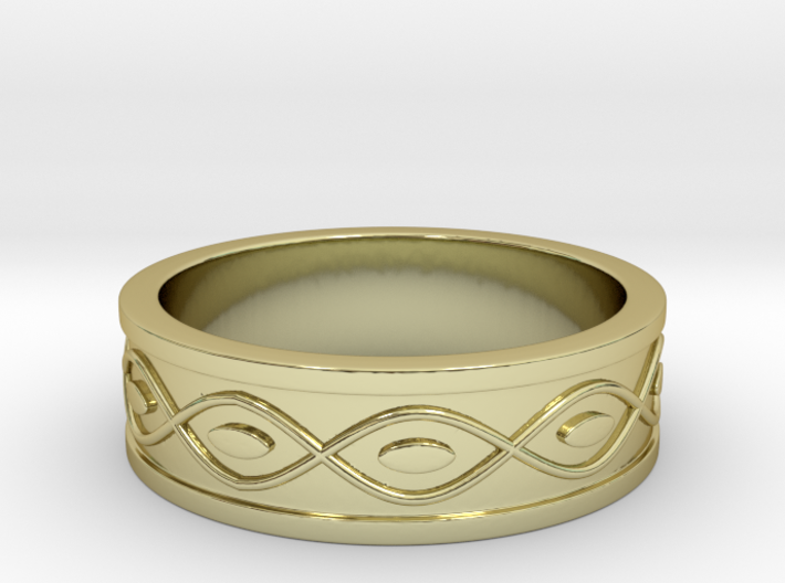 Ring with Eyes - Size 7 3d printed