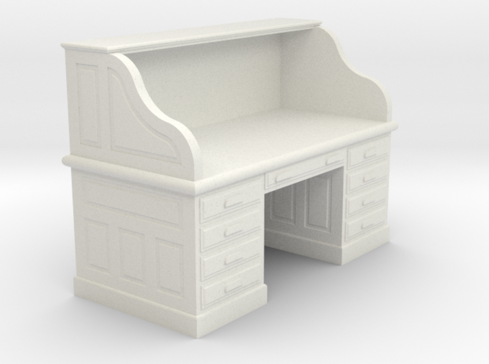 Miniature 1:48 Roll-top Desk 3d printed