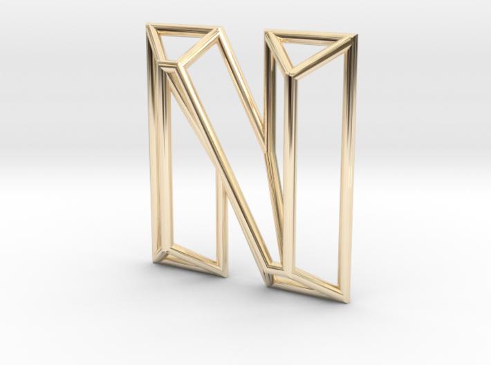 N Pendant 3d printed