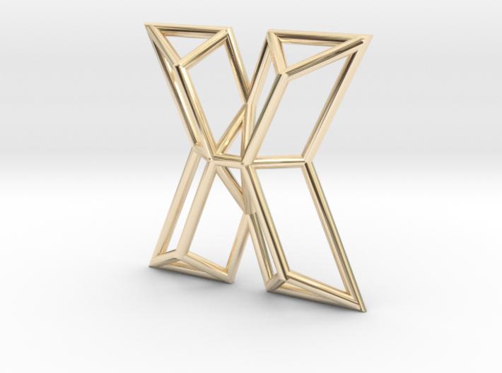 X Pendant 3d printed