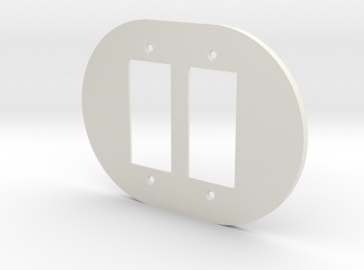 plodes® 2 Gang Decora Outlet Wall Plate 3d printed