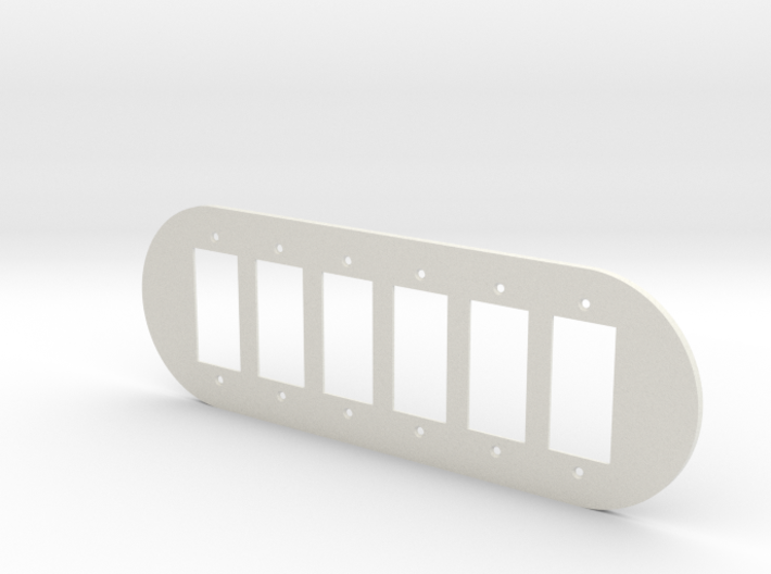 plodes® 6 Gang Decora Outlet Wall Plate 3d printed