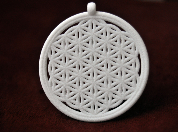 Flower of Life 3d printed White Strong & Flexible