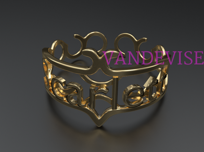 "Your Name Custom Bracelet - ""Scarlett"" 3d printed"