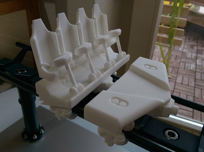 Roller coaster train seats v2 3d printed
